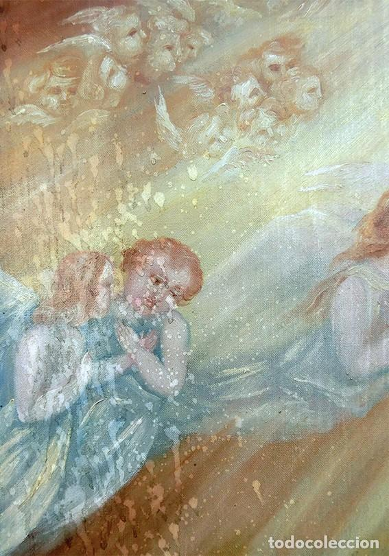 Arte: IMPORTANTE OBRA RELIGIOSA - EMILIA CARMENA DE PROTA - AÑO 1858 - ÓLEO SOBRE LIENZO - ASCENSIÓN S.XIX - Foto 18 - 190824018