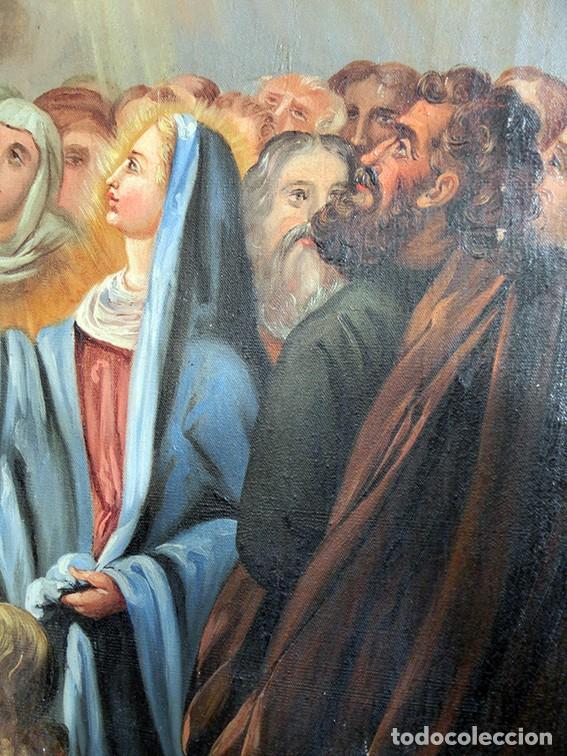 Arte: IMPORTANTE OBRA RELIGIOSA - EMILIA CARMENA DE PROTA - AÑO 1858 - ÓLEO SOBRE LIENZO - ASCENSIÓN S.XIX - Foto 13 - 190824018