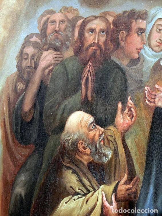 Arte: IMPORTANTE OBRA RELIGIOSA - EMILIA CARMENA DE PROTA - AÑO 1858 - ÓLEO SOBRE LIENZO - ASCENSIÓN S.XIX - Foto 17 - 190824018