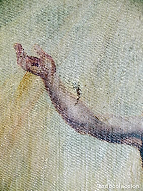 Arte: IMPORTANTE OBRA RELIGIOSA - EMILIA CARMENA DE PROTA - AÑO 1858 - ÓLEO SOBRE LIENZO - ASCENSIÓN S.XIX - Foto 19 - 190824018