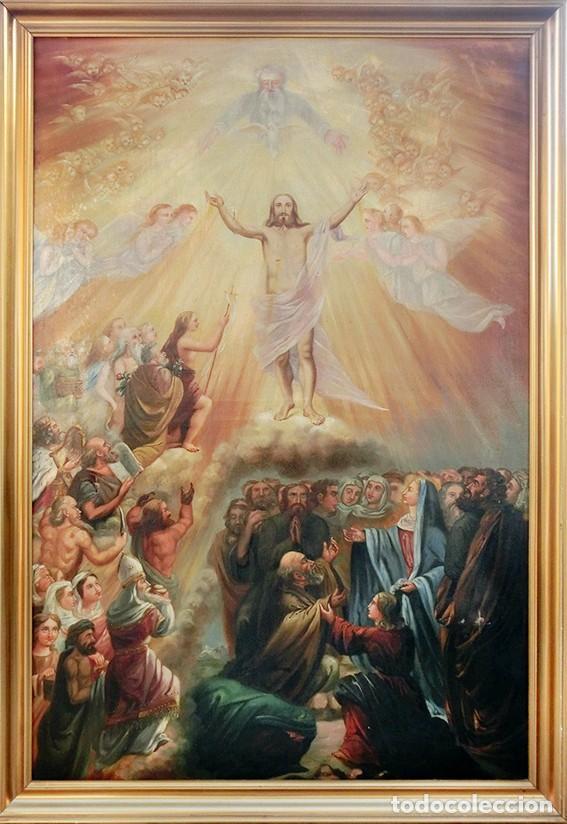 Arte: IMPORTANTE OBRA RELIGIOSA - EMILIA CARMENA DE PROTA - AÑO 1858 - ÓLEO SOBRE LIENZO - ASCENSIÓN S.XIX - Foto 46 - 190824018