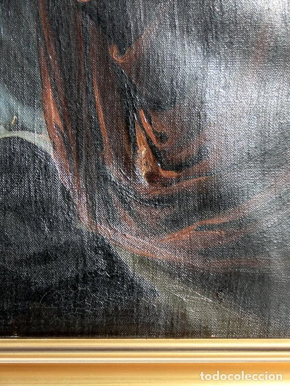 Arte: IMPORTANTE OBRA RELIGIOSA - EMILIA CARMENA DE PROTA - AÑO 1858 - ÓLEO SOBRE LIENZO - ASCENSIÓN S.XIX - Foto 21 - 190824018