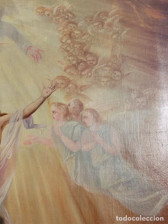 Arte: IMPORTANTE OBRA RELIGIOSA - EMILIA CARMENA DE PROTA - AÑO 1858 - ÓLEO SOBRE LIENZO - ASCENSIÓN S.XIX - Foto 26 - 190824018