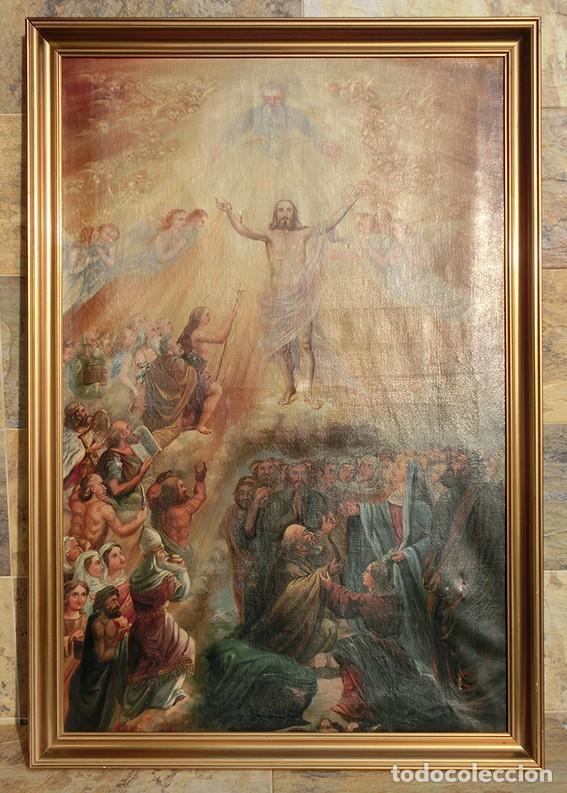 Arte: IMPORTANTE OBRA RELIGIOSA - EMILIA CARMENA DE PROTA - AÑO 1858 - ÓLEO SOBRE LIENZO - ASCENSIÓN S.XIX - Foto 24 - 190824018