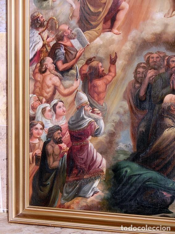 Arte: IMPORTANTE OBRA RELIGIOSA - EMILIA CARMENA DE PROTA - AÑO 1858 - ÓLEO SOBRE LIENZO - ASCENSIÓN S.XIX - Foto 31 - 190824018