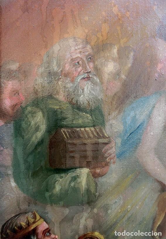 Arte: IMPORTANTE OBRA RELIGIOSA - EMILIA CARMENA DE PROTA - AÑO 1858 - ÓLEO SOBRE LIENZO - ASCENSIÓN S.XIX - Foto 30 - 190824018