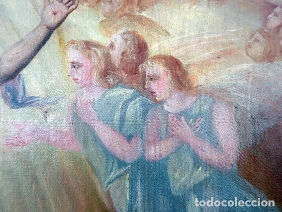 Arte: IMPORTANTE OBRA RELIGIOSA - EMILIA CARMENA DE PROTA - AÑO 1858 - ÓLEO SOBRE LIENZO - ASCENSIÓN S.XIX - Foto 28 - 190824018