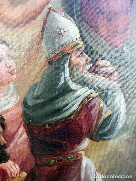 Arte: IMPORTANTE OBRA RELIGIOSA - EMILIA CARMENA DE PROTA - AÑO 1858 - ÓLEO SOBRE LIENZO - ASCENSIÓN S.XIX - Foto 20 - 190824018
