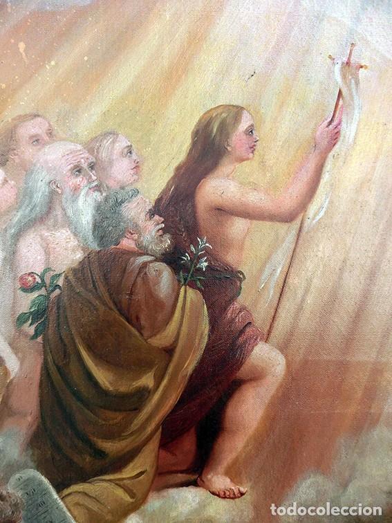 Arte: IMPORTANTE OBRA RELIGIOSA - EMILIA CARMENA DE PROTA - AÑO 1858 - ÓLEO SOBRE LIENZO - ASCENSIÓN S.XIX - Foto 32 - 190824018