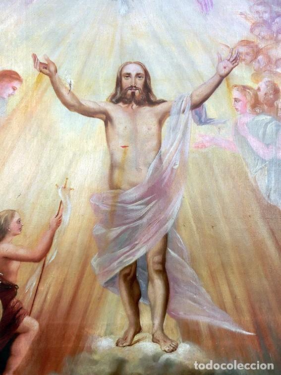 Arte: IMPORTANTE OBRA RELIGIOSA - EMILIA CARMENA DE PROTA - AÑO 1858 - ÓLEO SOBRE LIENZO - ASCENSIÓN S.XIX - Foto 34 - 190824018