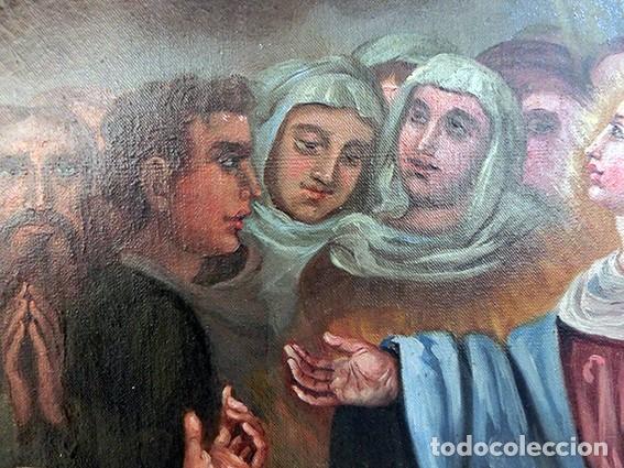 Arte: IMPORTANTE OBRA RELIGIOSA - EMILIA CARMENA DE PROTA - AÑO 1858 - ÓLEO SOBRE LIENZO - ASCENSIÓN S.XIX - Foto 36 - 190824018