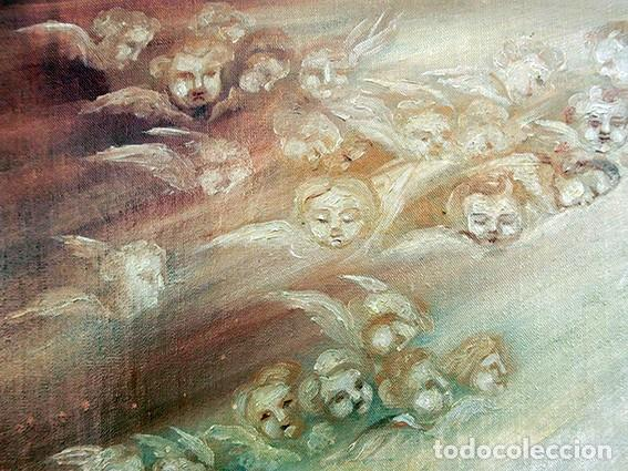 Arte: IMPORTANTE OBRA RELIGIOSA - EMILIA CARMENA DE PROTA - AÑO 1858 - ÓLEO SOBRE LIENZO - ASCENSIÓN S.XIX - Foto 35 - 190824018