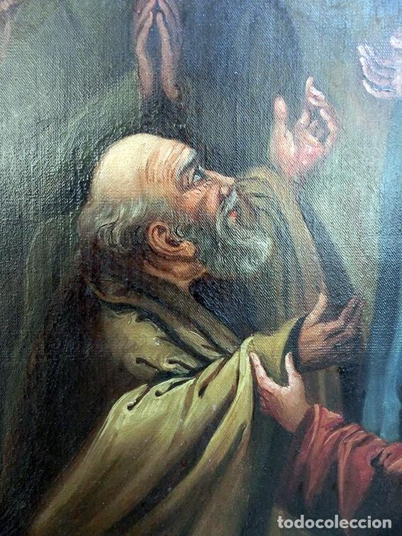 Arte: IMPORTANTE OBRA RELIGIOSA - EMILIA CARMENA DE PROTA - AÑO 1858 - ÓLEO SOBRE LIENZO - ASCENSIÓN S.XIX - Foto 37 - 190824018