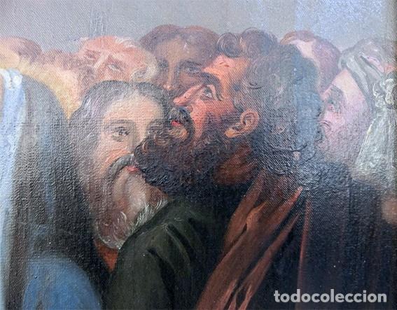 Arte: IMPORTANTE OBRA RELIGIOSA - EMILIA CARMENA DE PROTA - AÑO 1858 - ÓLEO SOBRE LIENZO - ASCENSIÓN S.XIX - Foto 38 - 190824018