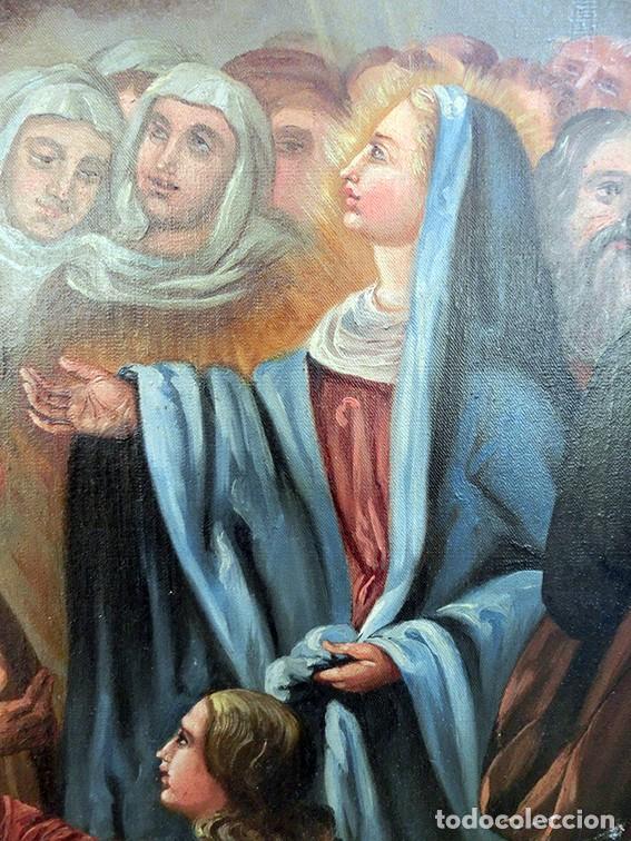 Arte: IMPORTANTE OBRA RELIGIOSA - EMILIA CARMENA DE PROTA - AÑO 1858 - ÓLEO SOBRE LIENZO - ASCENSIÓN S.XIX - Foto 40 - 190824018