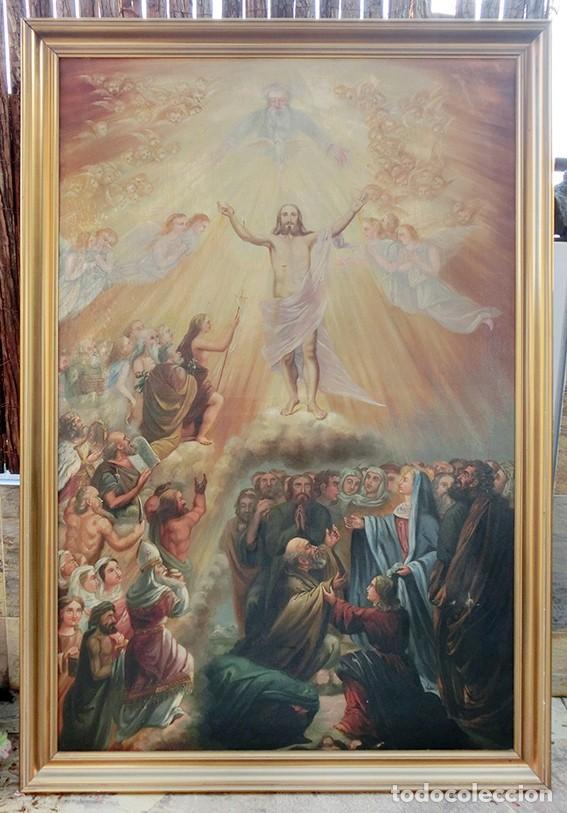 Arte: IMPORTANTE OBRA RELIGIOSA - EMILIA CARMENA DE PROTA - AÑO 1858 - ÓLEO SOBRE LIENZO - ASCENSIÓN S.XIX - Foto 33 - 190824018