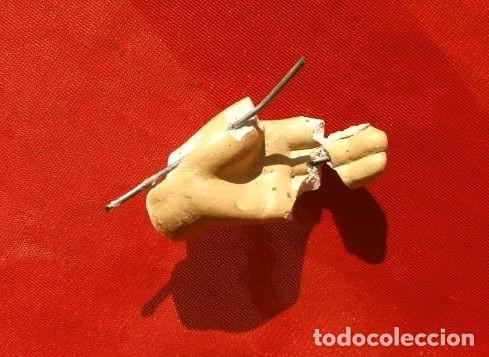 Arte: Antigua IMAGEN SAGRADO CORAZON 47 CM ALTO - CRISTO REDENTOR - ESTUCO - MARCA DIMOSA OLOT - Foto 9 - 190826602