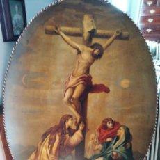 Arte: PINTURA AL OLEO SOBRE TABLA OVALO. 131X90. CALVARIO. Lote 190840355
