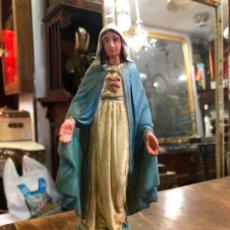 Arte: IMAGEN VIRGEN MILAGROSA DE OLOT CON MEDIDA 24 CM - RELIGIOSO. Lote 190840741