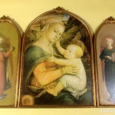 Arte: TRÍPTICO RELIGIOSO DE MADERA 74CMX53CM. Lote 190849251