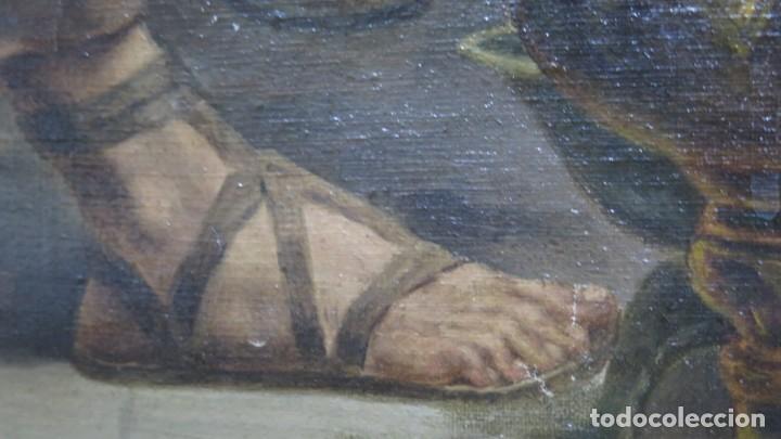 Arte: MAGNIFICA ULTIMA CENA. OLEO S/ LIENZO. J. FLORES. 1921. ESCUELA ESPAÑOLA - Foto 2 - 190878212