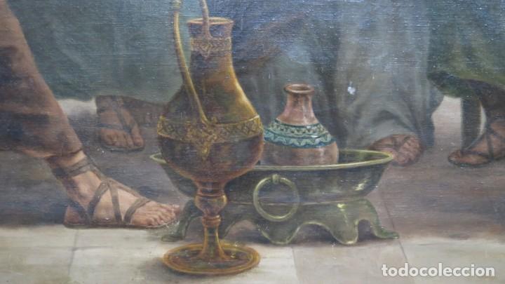 Arte: MAGNIFICA ULTIMA CENA. OLEO S/ LIENZO. J. FLORES. 1921. ESCUELA ESPAÑOLA - Foto 5 - 190878212