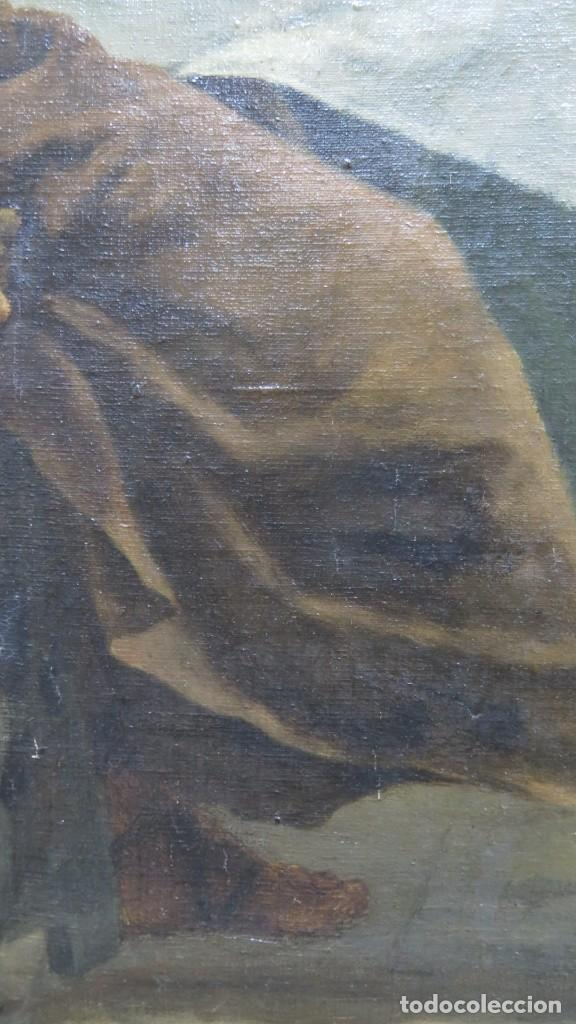 Arte: MAGNIFICA ULTIMA CENA. OLEO S/ LIENZO. J. FLORES. 1921. ESCUELA ESPAÑOLA - Foto 7 - 190878212