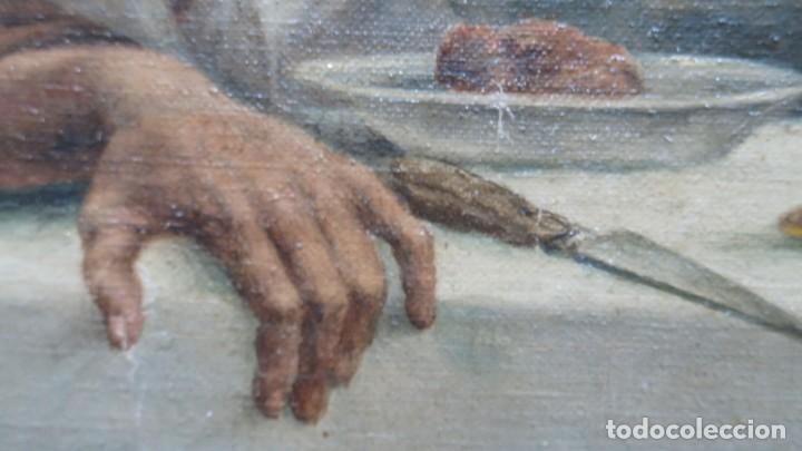 Arte: MAGNIFICA ULTIMA CENA. OLEO S/ LIENZO. J. FLORES. 1921. ESCUELA ESPAÑOLA - Foto 9 - 190878212