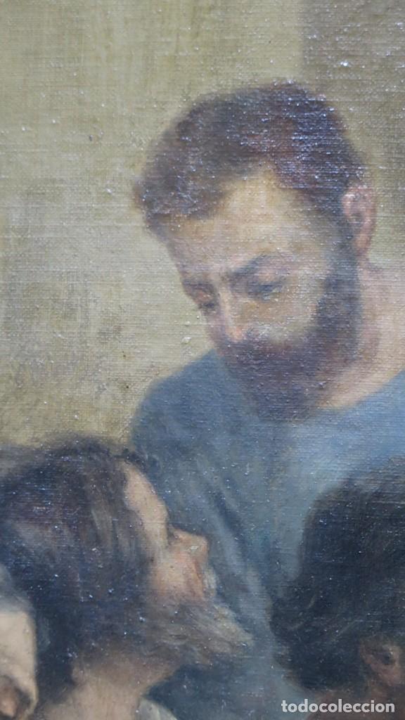 Arte: MAGNIFICA ULTIMA CENA. OLEO S/ LIENZO. J. FLORES. 1921. ESCUELA ESPAÑOLA - Foto 11 - 190878212