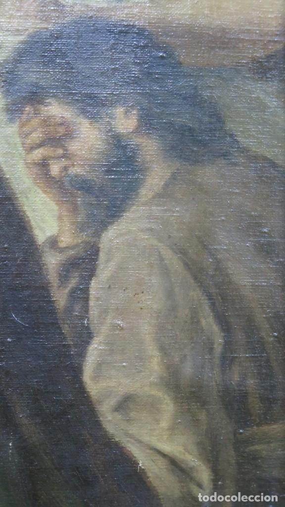 Arte: MAGNIFICA ULTIMA CENA. OLEO S/ LIENZO. J. FLORES. 1921. ESCUELA ESPAÑOLA - Foto 16 - 190878212
