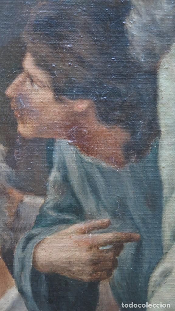 Arte: MAGNIFICA ULTIMA CENA. OLEO S/ LIENZO. J. FLORES. 1921. ESCUELA ESPAÑOLA - Foto 21 - 190878212