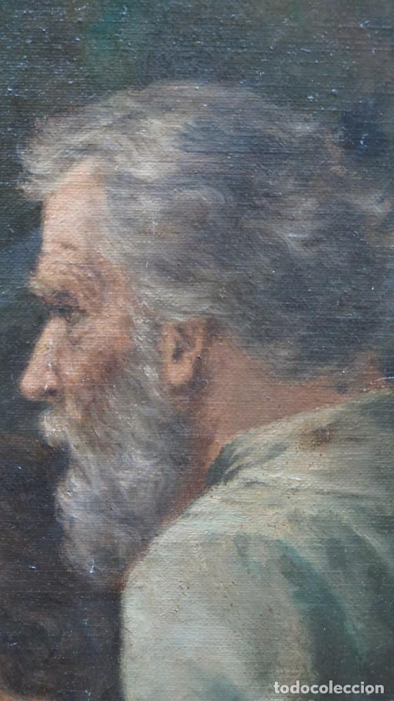 Arte: MAGNIFICA ULTIMA CENA. OLEO S/ LIENZO. J. FLORES. 1921. ESCUELA ESPAÑOLA - Foto 22 - 190878212