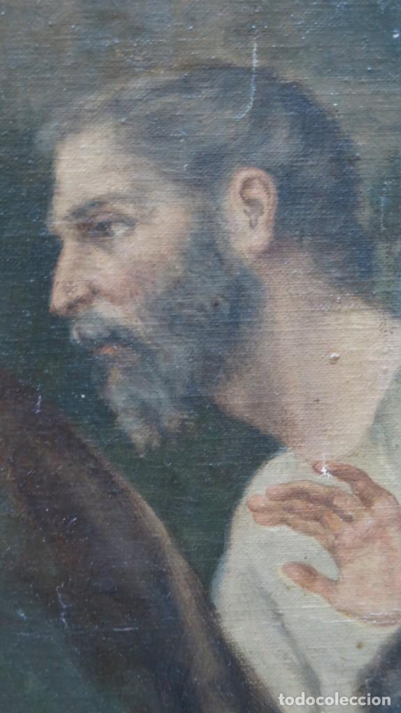 Arte: MAGNIFICA ULTIMA CENA. OLEO S/ LIENZO. J. FLORES. 1921. ESCUELA ESPAÑOLA - Foto 23 - 190878212