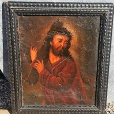 Arte: OLEO LIENZO CRISTO CRUZ SIGLO XVII O XVIII A RESTAURAR. Lote 190908556