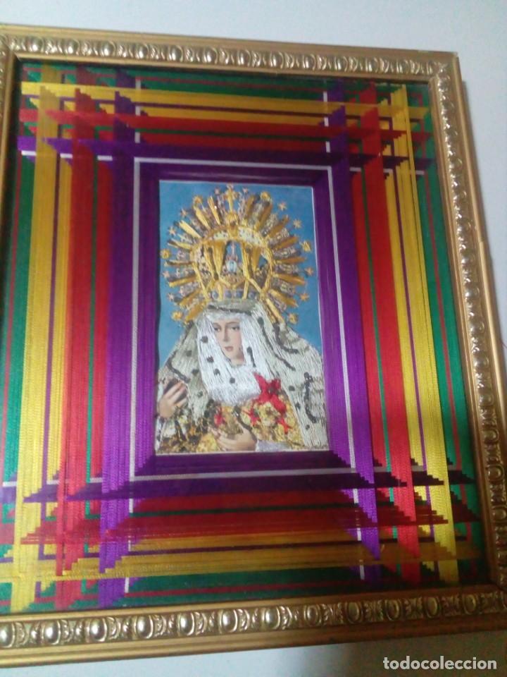 CUADRO CON LA VIRGEN HECHO A MANO CON HILOS (Arte - Arte Religioso - Pintura Religiosa - Otros)