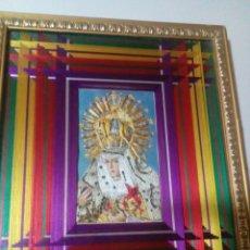 Arte: CUADRO CON LA VIRGEN HECHO A MANO CON HILOS. Lote 190928798