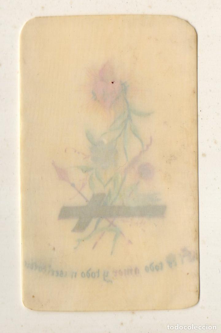 Arte: Óleo Sagrado Corazón sobre marfil. Muy antiguo - Foto 2 - 190977596