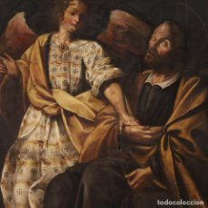 Arte: PINTURA RELIGIOSA ITALIANA ANTIGUA EL SUEÑO DE SAN JOSÉ DEL SIGLO XVIII. Lote 190980196