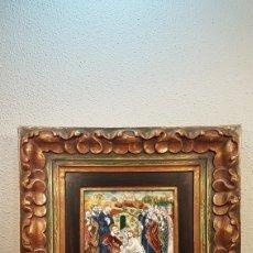 Arte: BONITO ESMALTE AL FUEGO CATALAN / BARCELONA DE CRISTO RESUCITADO PRINC. SIGLO XX. ENMARCADO .. Lote 191020318