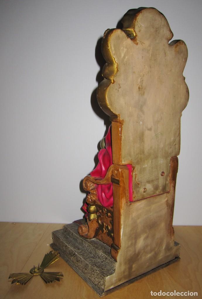 Arte: Cristo Redentor, Cristo Rey Trono, Sagrado Corazón de Jesús entronizado Olot principios s XX - Foto 16 - 191066807