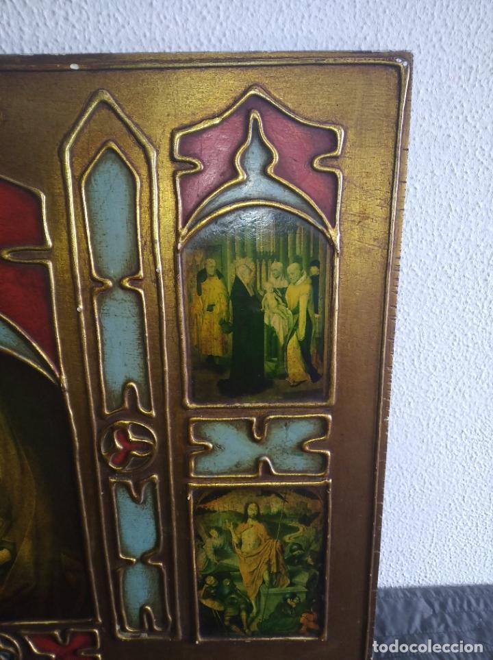 Arte: Antiguo Cuadro con imágenes motivos religiosos virgen Jesús señor vintage tríptico? - Foto 10 - 191115928