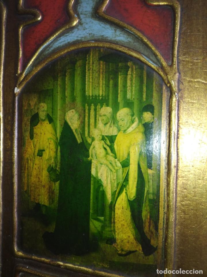 Arte: Antiguo Cuadro con imágenes motivos religiosos virgen Jesús señor vintage tríptico? - Foto 11 - 191115928