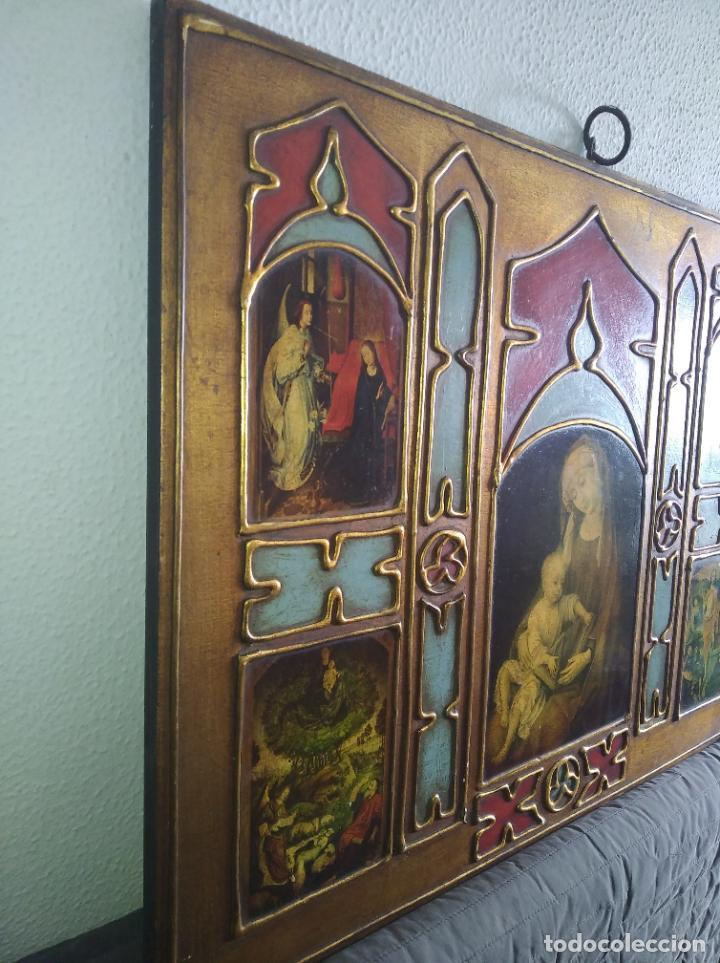 Arte: Antiguo Cuadro con imágenes motivos religiosos virgen Jesús señor vintage tríptico? - Foto 14 - 191115928