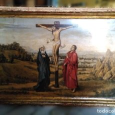 Arte: TRÍPTICO, ÓLEO SOBRE TABLA SIGUIENDO MODELOS FLAMENCOS. Lote 191142327