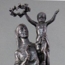 Arte: VIRGEN DEL AMOR CON NIÑO EN BRONCE PULIDO DE JUAN DE AVALOS NUMERADA 7 DE 200 SIGLO XX. Lote 191152190