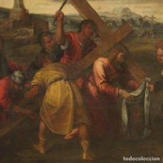 Arte: PINTURA RELIGIOSA ITALIANA ANTIGUA CRISTO FLAGELADO DEL SIGLO XVIII. Lote 191176680