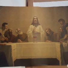 Arte: ANTIGUA LAMINA - SANTA CENA - THE LAST SUPPER DE GEBHARD FUGEL - JESUS Y 12 APÓSTOLES - 58 X 101. Lote 191202541