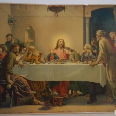 Arte: ANTIGUA LÁMINA - SANTA CENA - THE LORD'S SUPPER - 40 X 52 CM. Lote 191214062