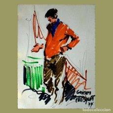 Arte: GUILLEM FRESQUET. TÉCNICA MIXTA 1974. Lote 191302140