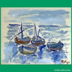 Arte: MARIBEL FOYÉ. TÉCNICA MIXTA 1979. Lote 191303317